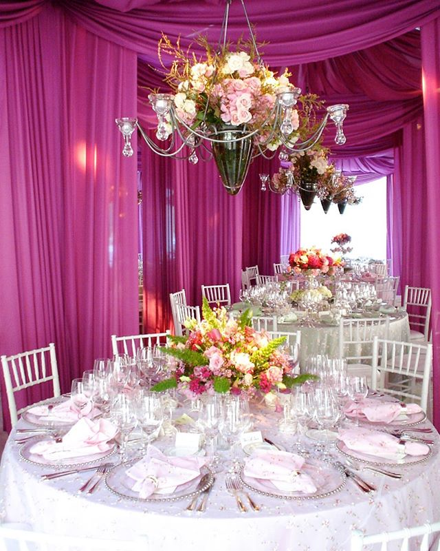 "Brazilian inspired ""Hot Hot Hot"" look for this summer party, showcasing just a glimpse of this extravagant room inside our custom decorated tent #summer #hothothot #event #eventplanner #pink"