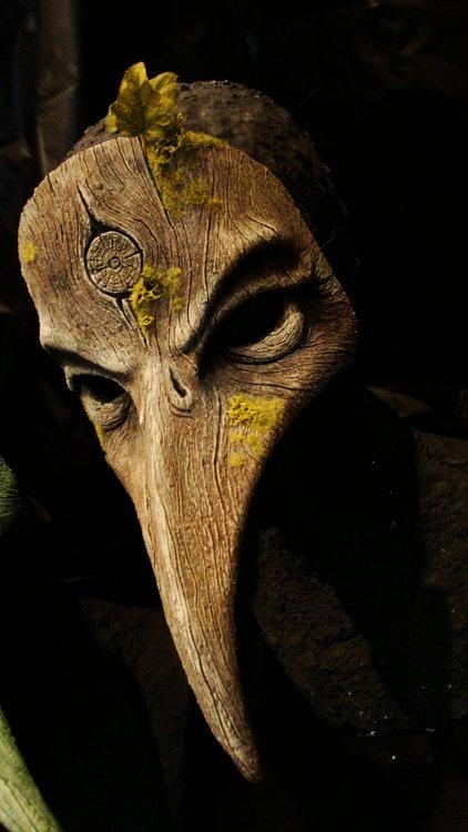 Wooden Plague Doctor Mask