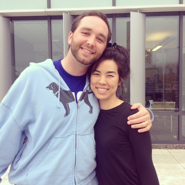 TUGG Executive Director David Brown, and YouthCITIES Founder Vicky Wu Davis enjoy a bit of sunshine.