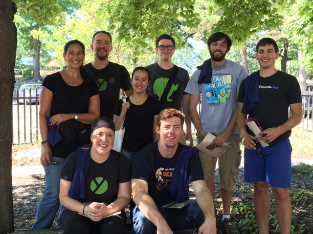 Team Yesware volunteering with City Sprouts at Higginson-Lewis K-8 School in Roxbury