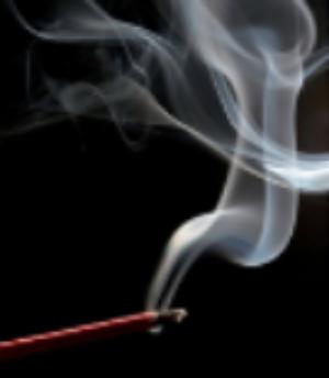 single incense burning