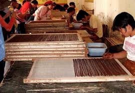 Production of incense sticks in India