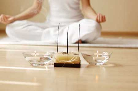 incense and meditation