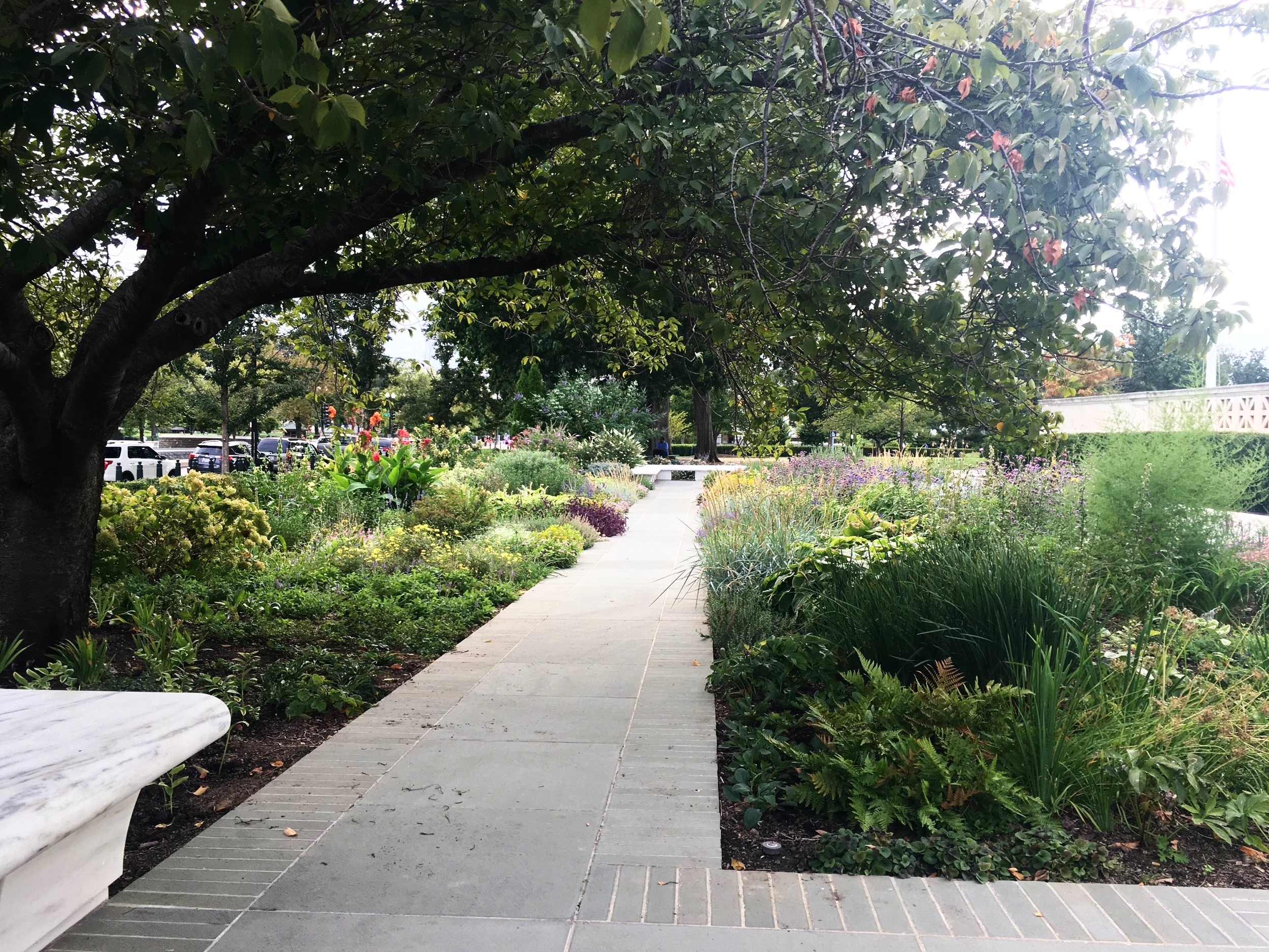 Beautiful garden at the Hart Senate Building in Washington D.C.