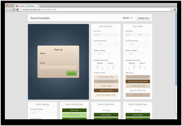 http://livetools.uiparade.com/form-builder.html#