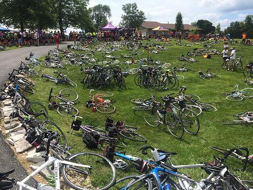 Bikes on bikes on bikes.