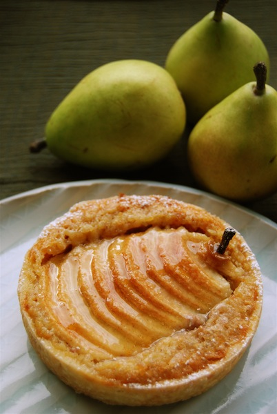 pear and walnut cream tart