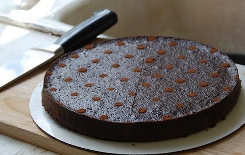 chocolate bourbon truffle torte