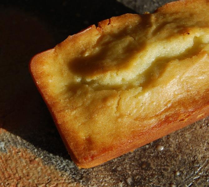 cream cheese and vanilla bean pound cake
