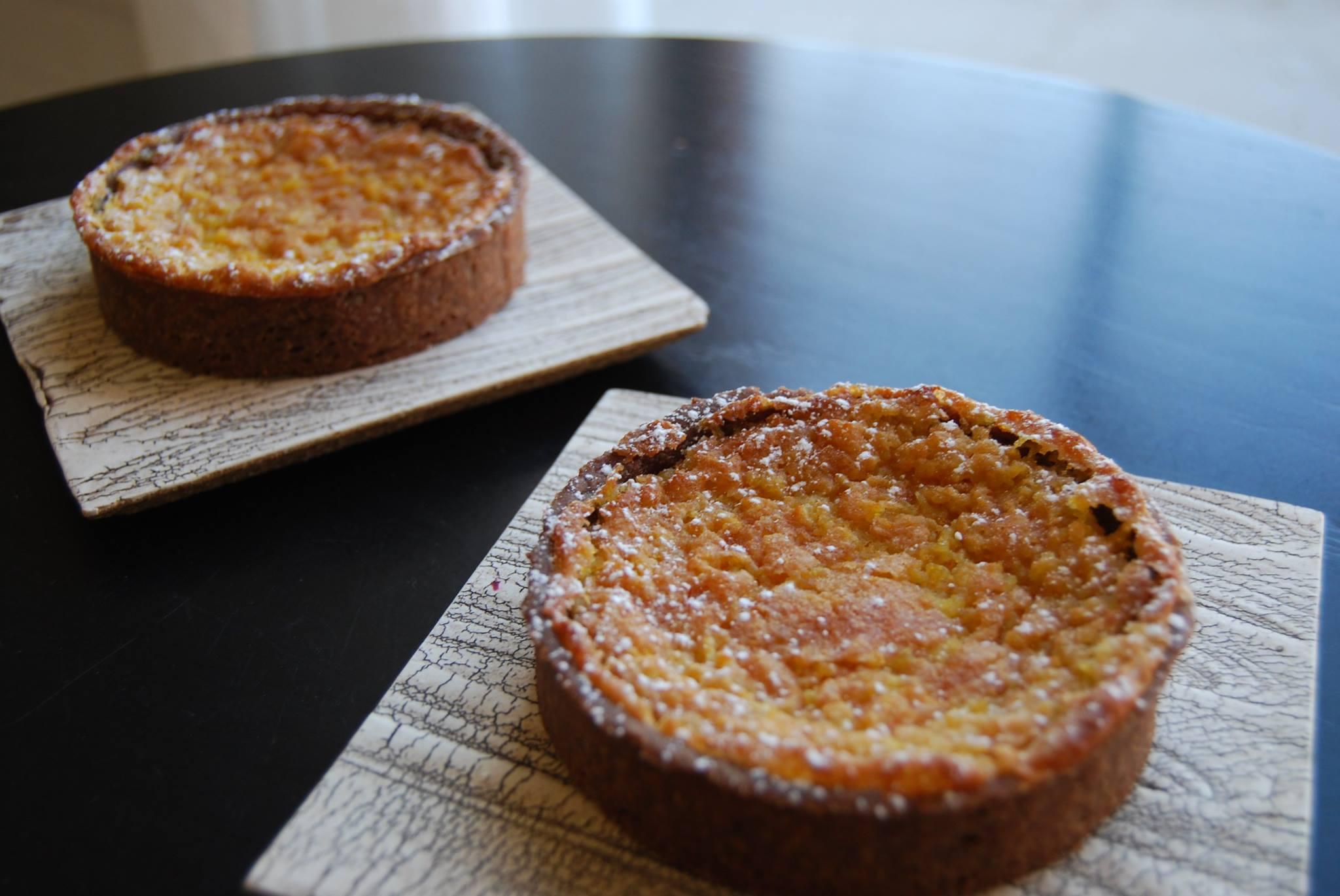 kumquat tarts in chocolate crust