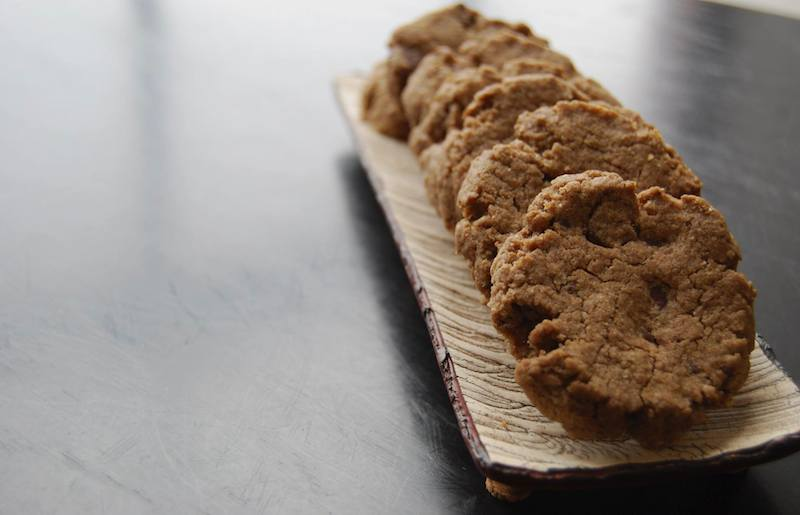 cocoa, buckwheat, chocolate chip cookie