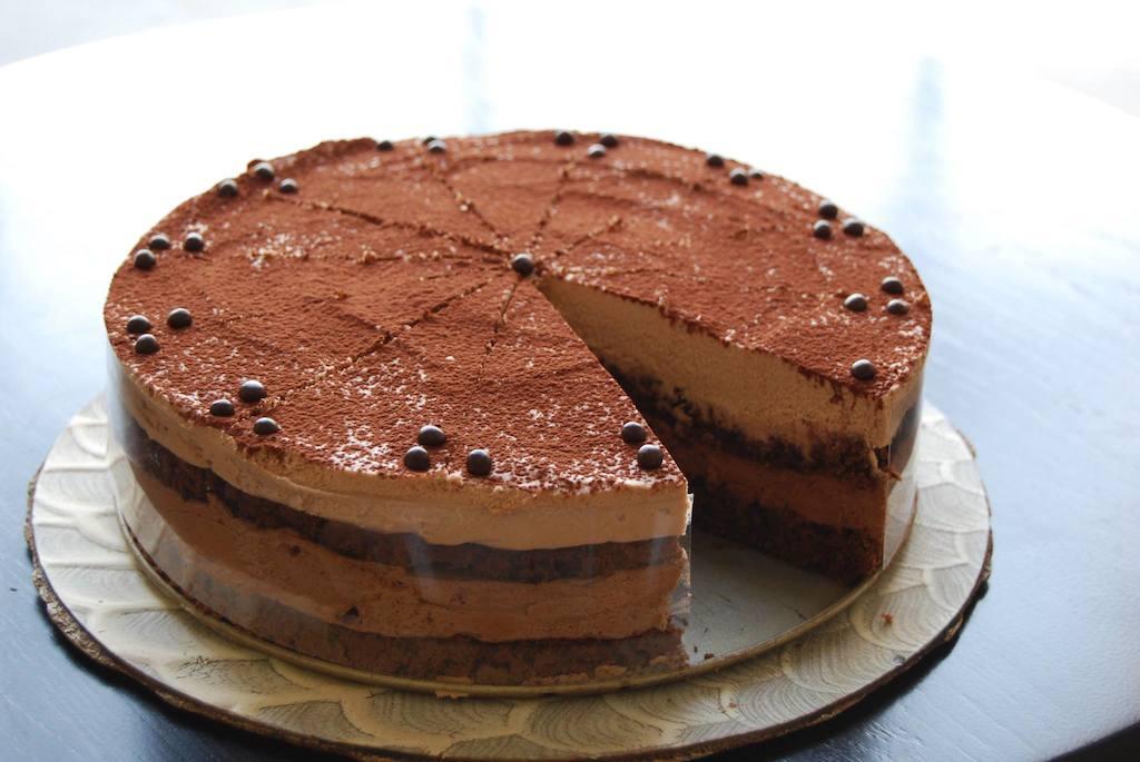 milk and dark chocolate mousse cake (gf)