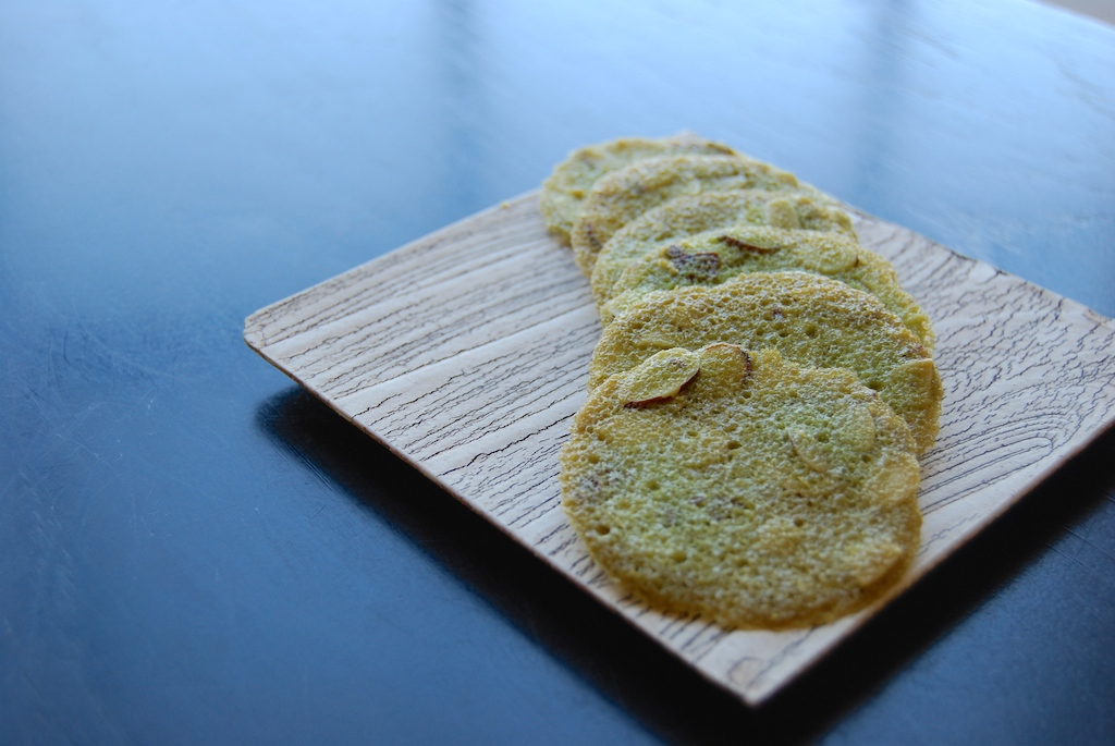 matcha almond tuiles (gf)