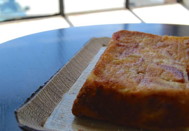summer peach olive oil cake