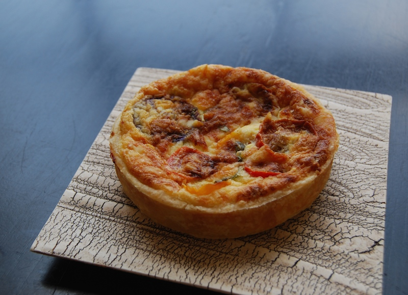 tomato basil gruyere tarts