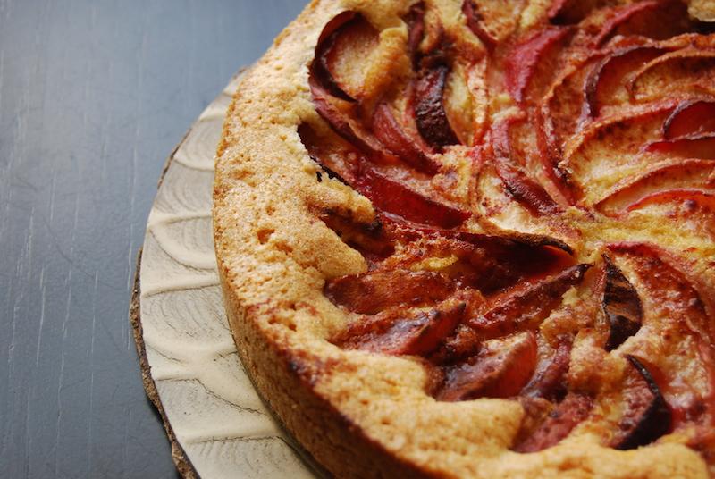 peach, plum and nectarine cake