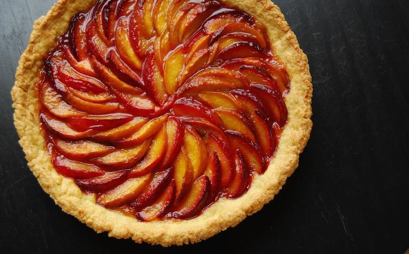 peach plum tart