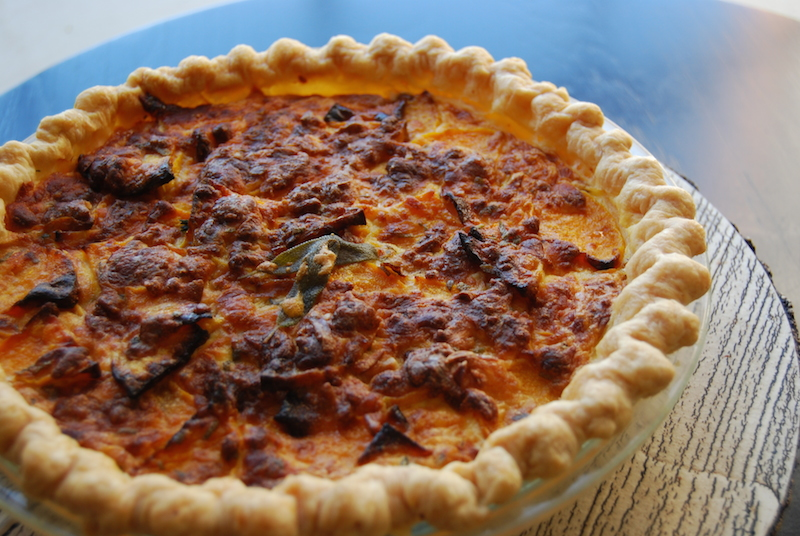 butternut squash and smoked gouda pie