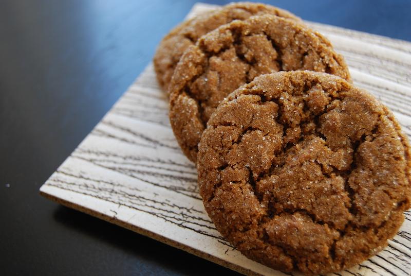 smoky cardamon molasses cookies