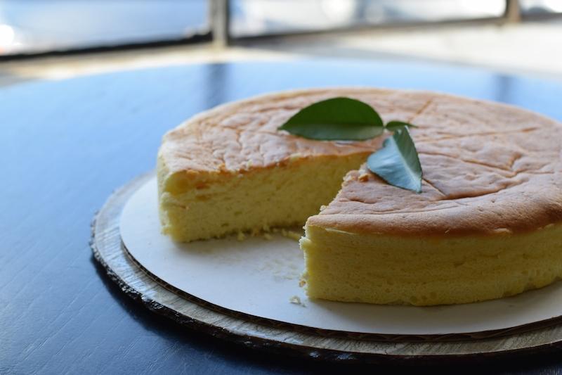 Japanese style cheese cake with yuzu