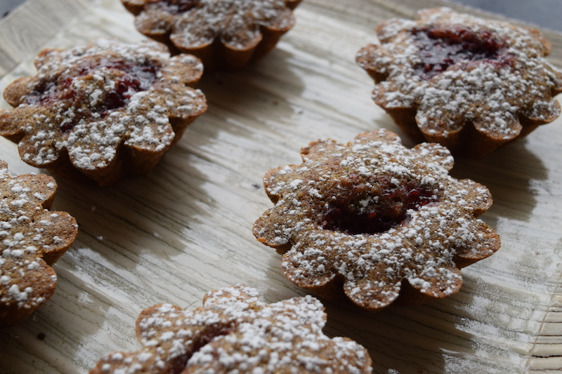 almond raspberry buckwheat cake