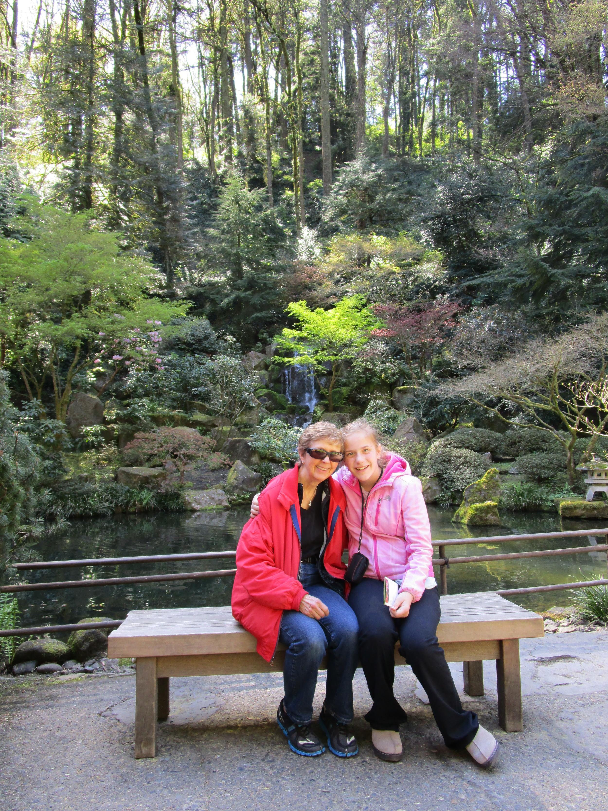 Grandma B and Jessie at the Japanese Garden