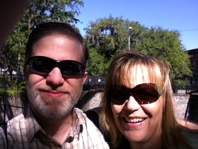 Enjoying the sunshine in Savannah