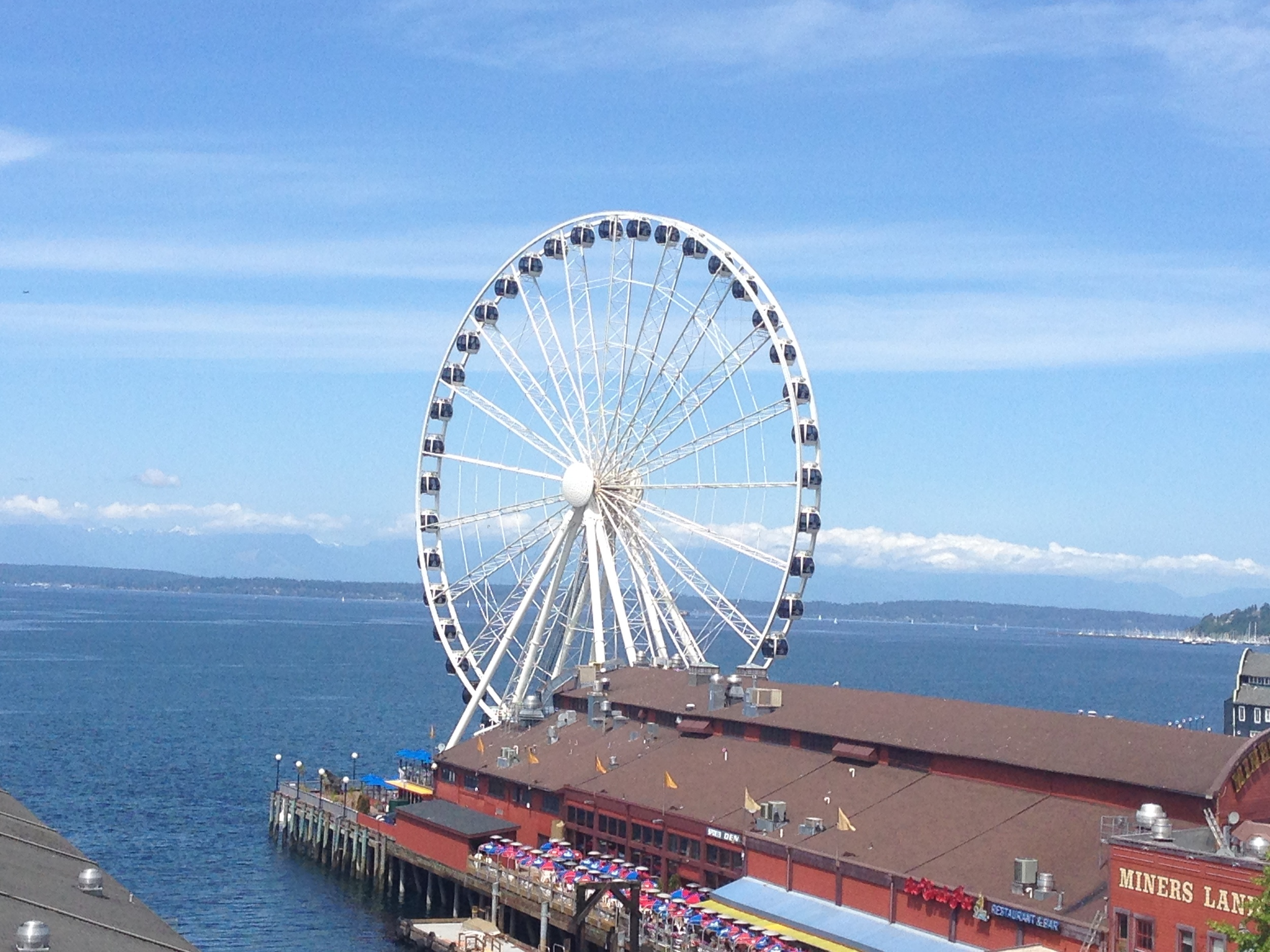 Seattle's Great Wheel. A perfect day for a 13.1 mile walk.