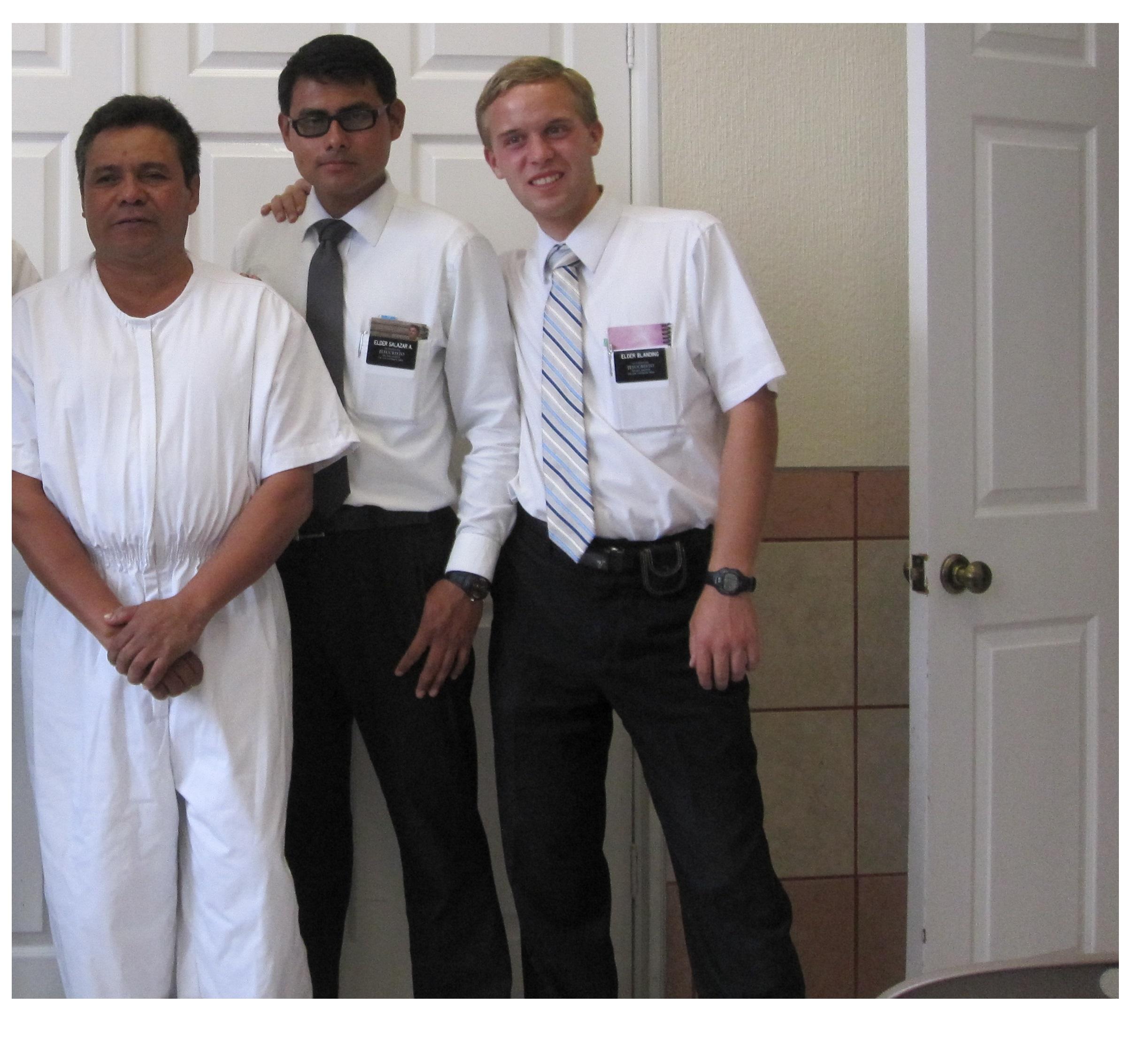 Elder Jason Blanding, far right