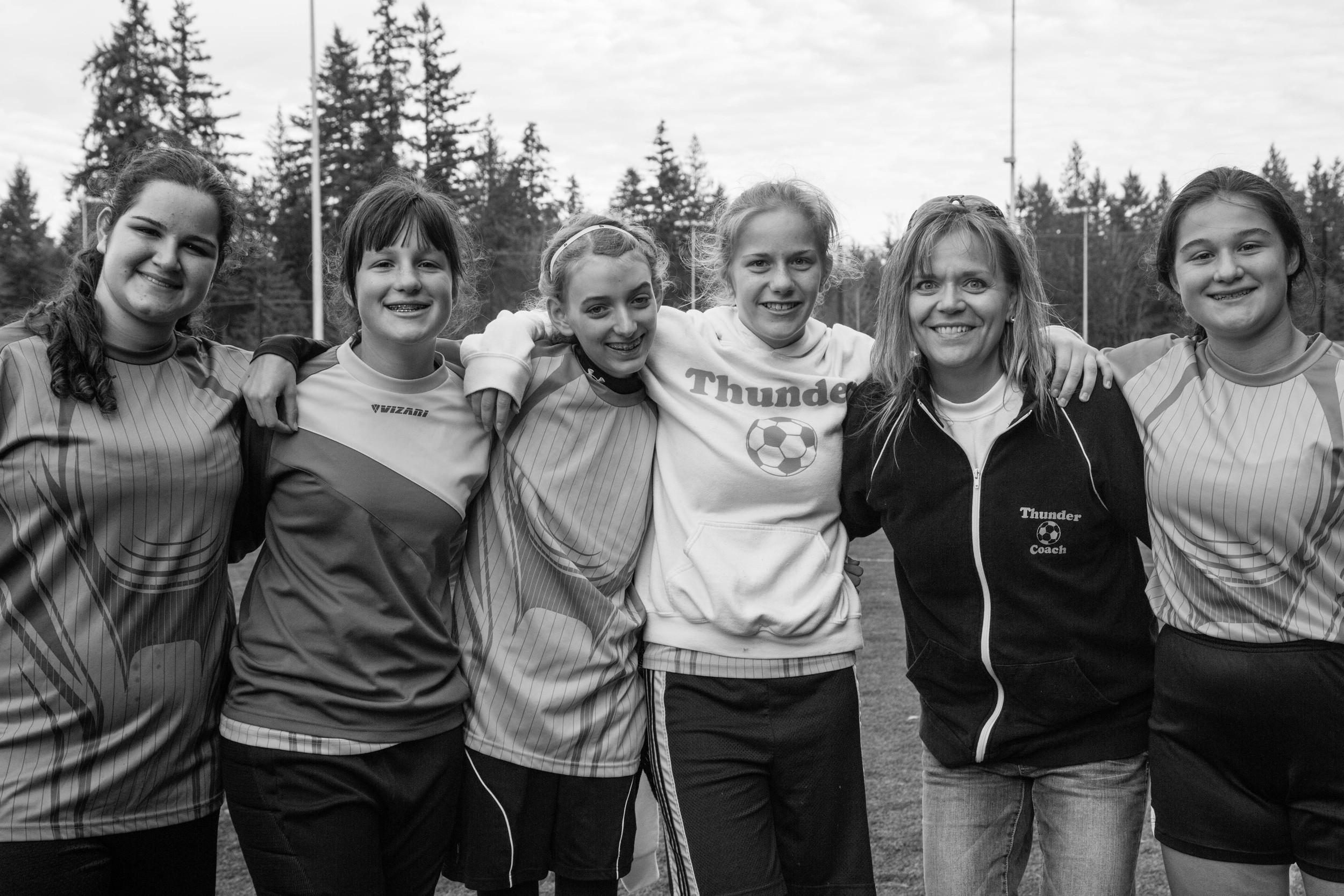 Girls from the original Sunshine Team (plus one) and Doreen