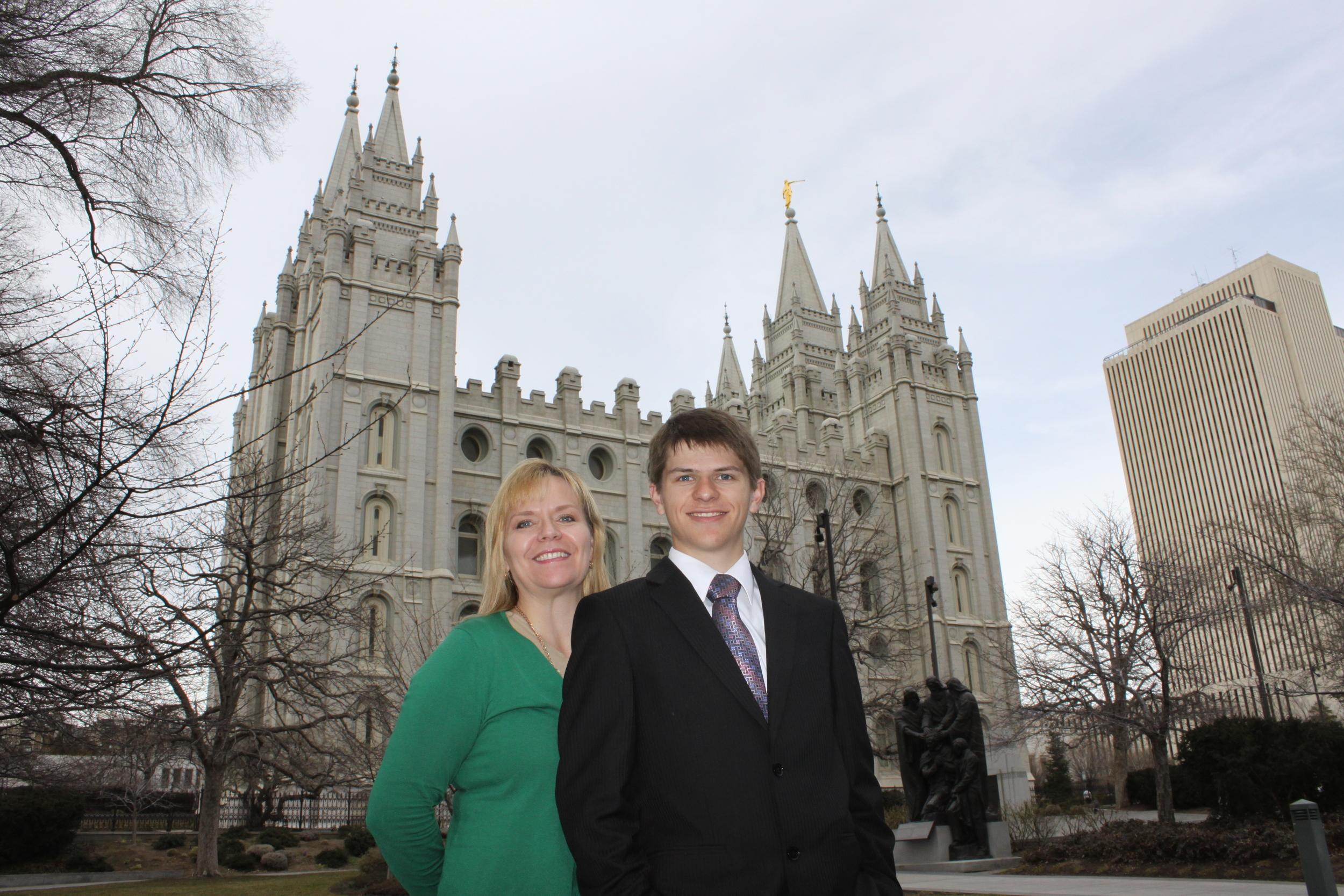 Doreen (mom) and Elder Matthew Blanding
