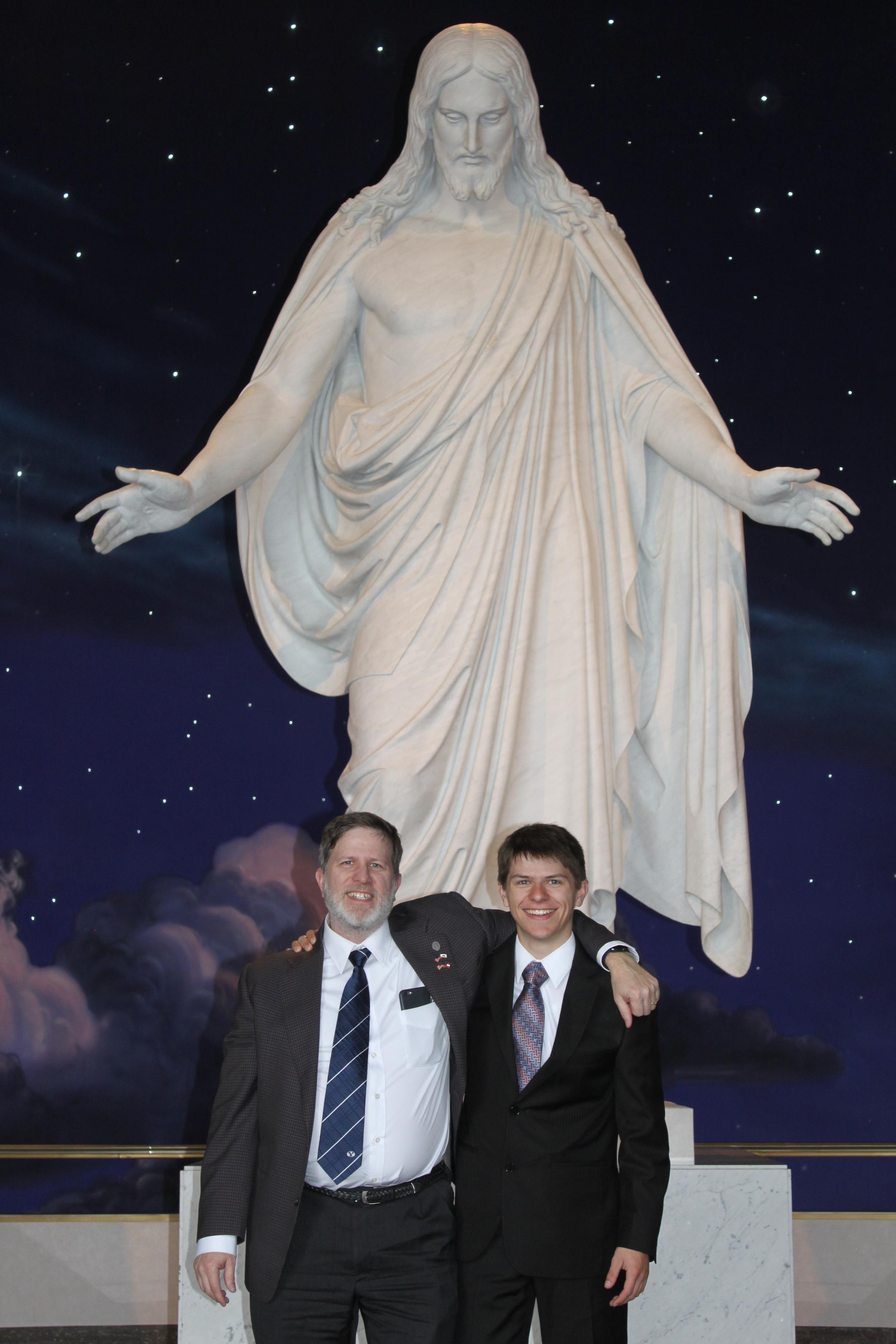 Steve (dad) and Elder Matthew Blanding