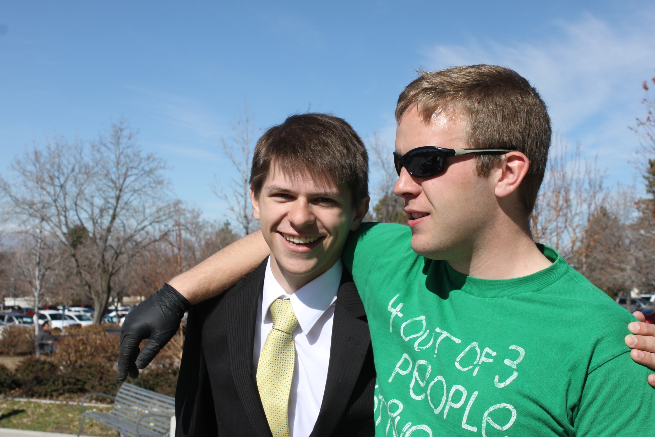 Elder Matthew Blanding and Jason.