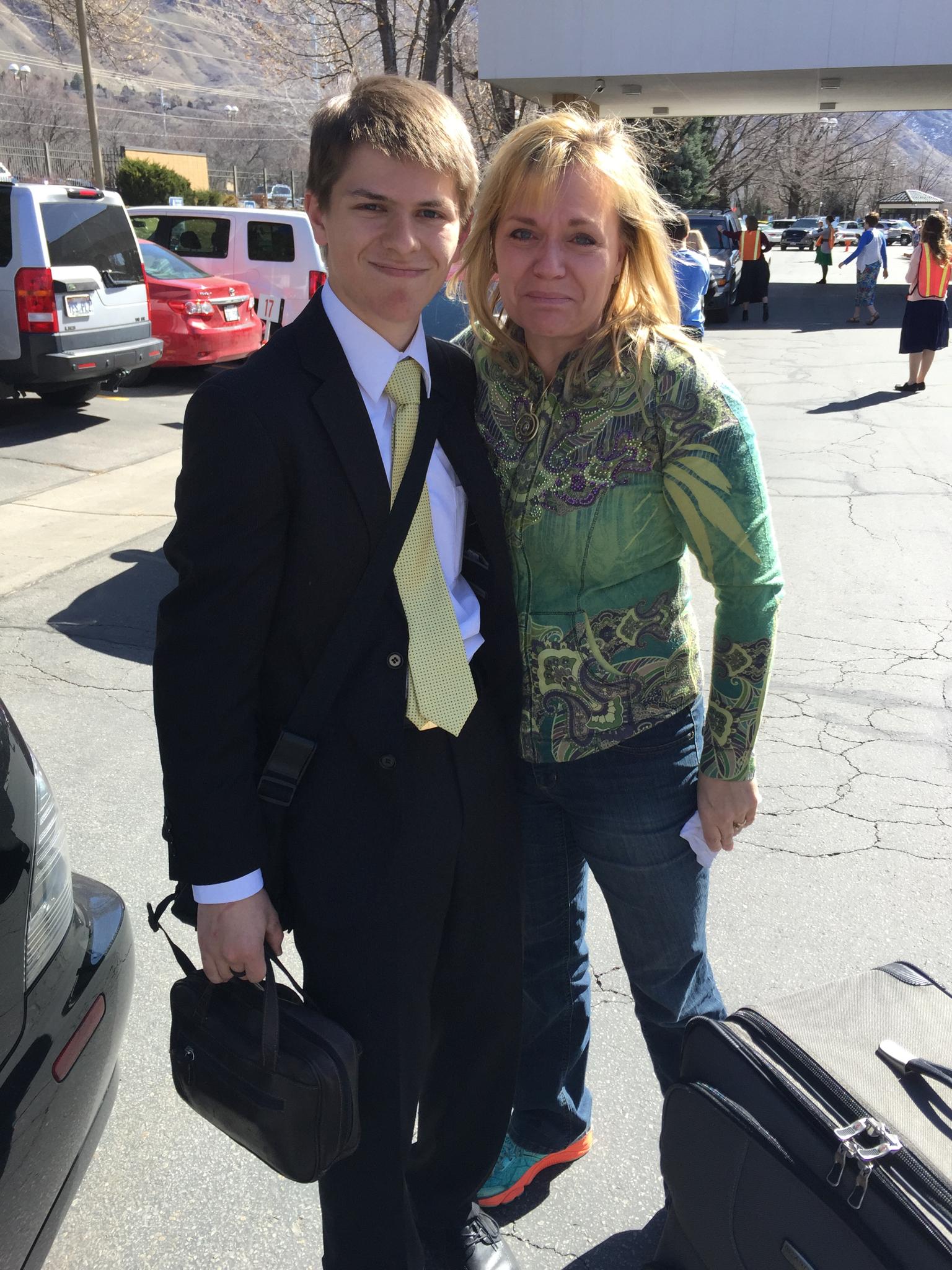 Elder Matthew Blanding and Doreen (his mom).