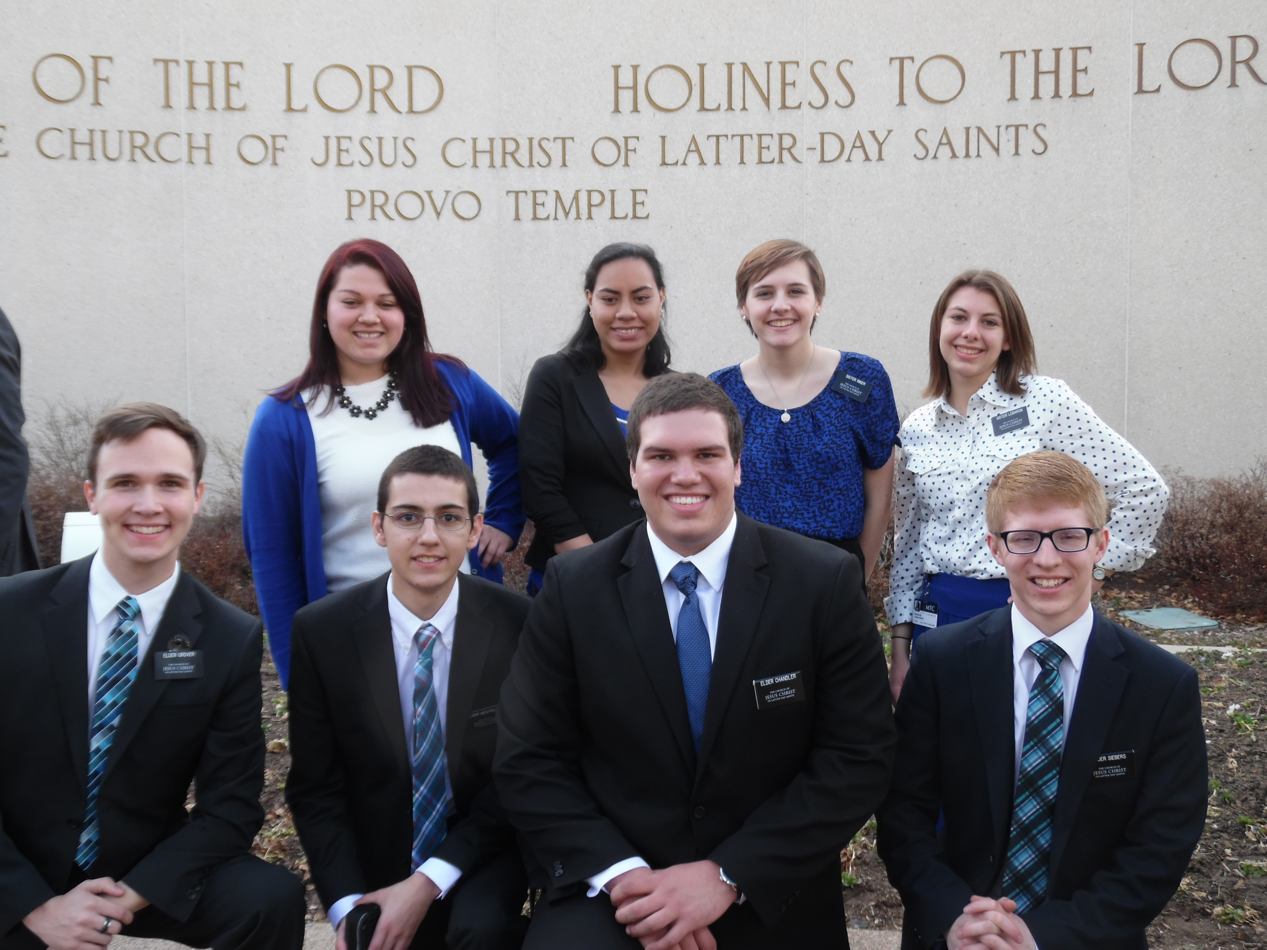 I believe the elder second from the right is the one from Portland--Elder Chandler