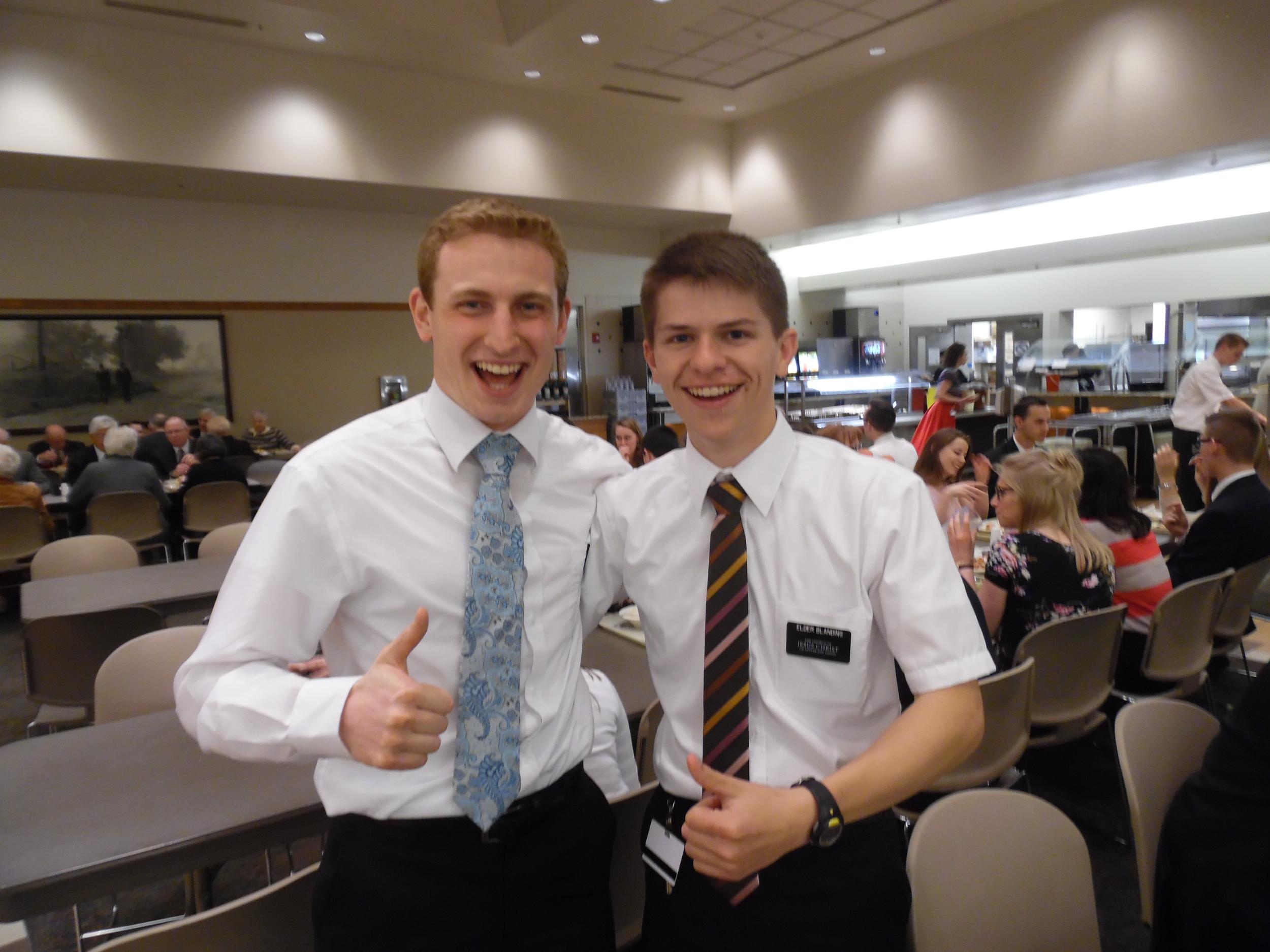 Ben and Elder Matthew Blanding (Ben is Matt's cousin)
