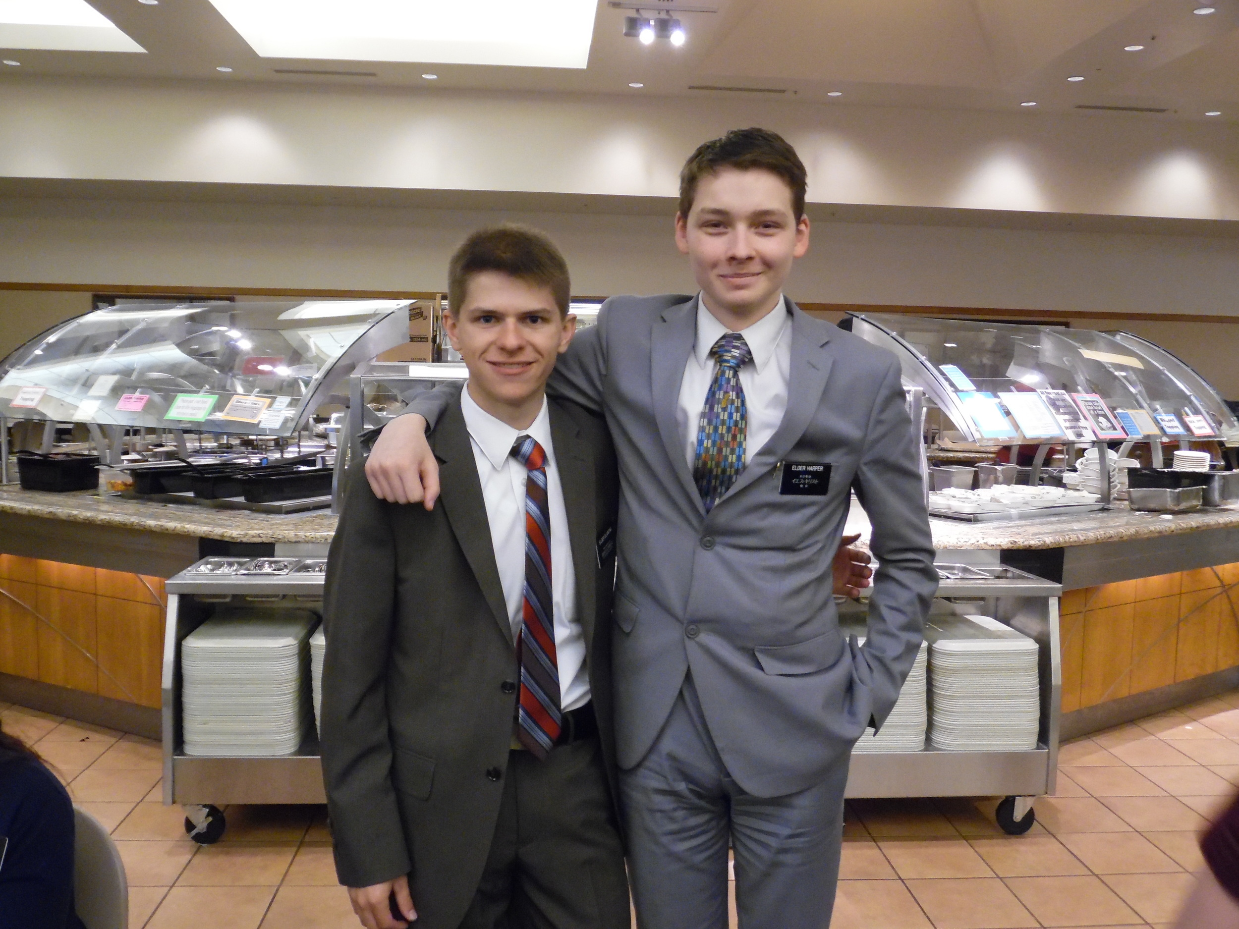 Elder Matthew Blanding and Elder Thomas Harper Thomas is a good friend from the same stake. He is going to Tokyo Japan