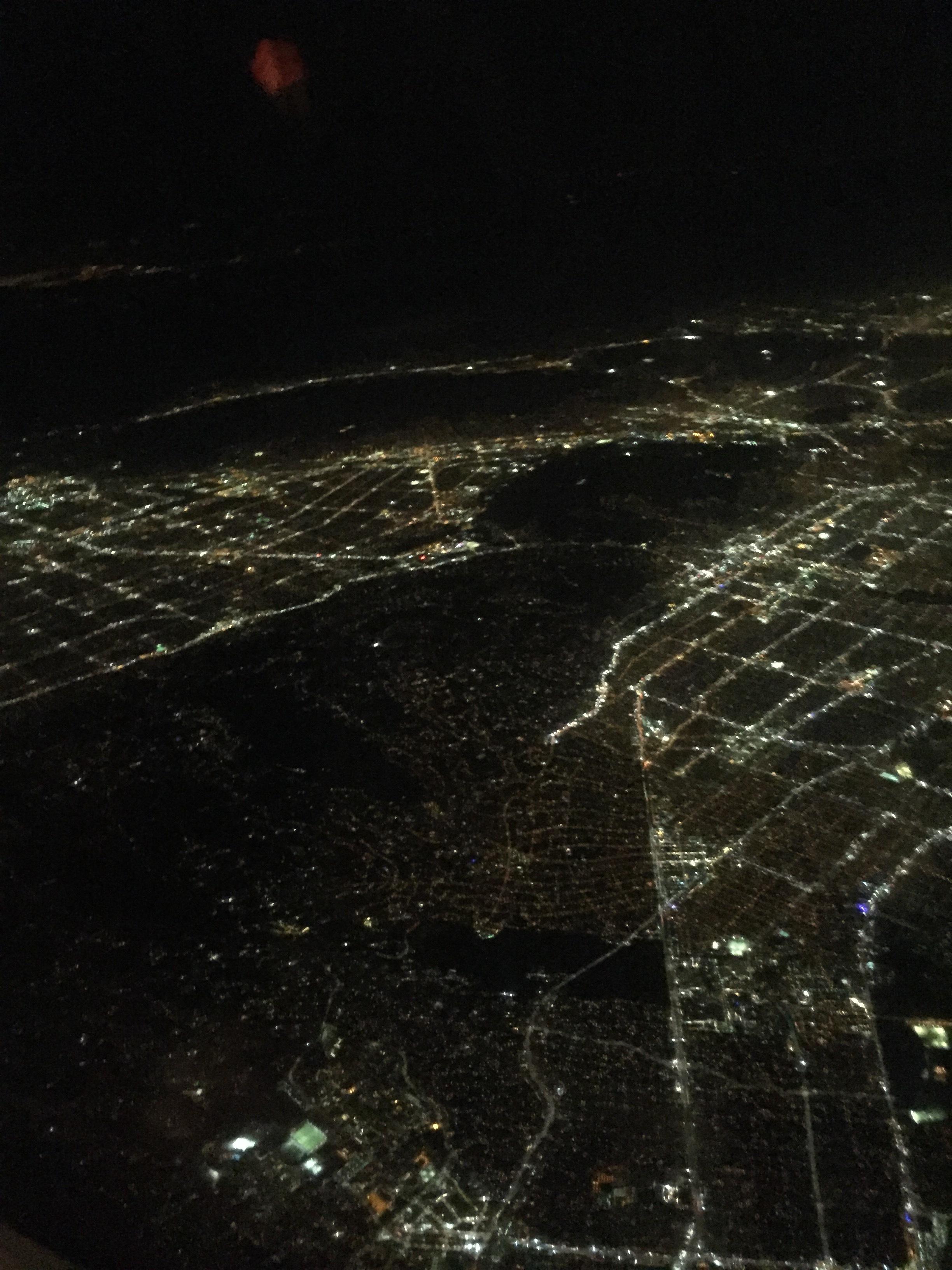 Leaving LA - Elder Michael Blanding is down there somewhere