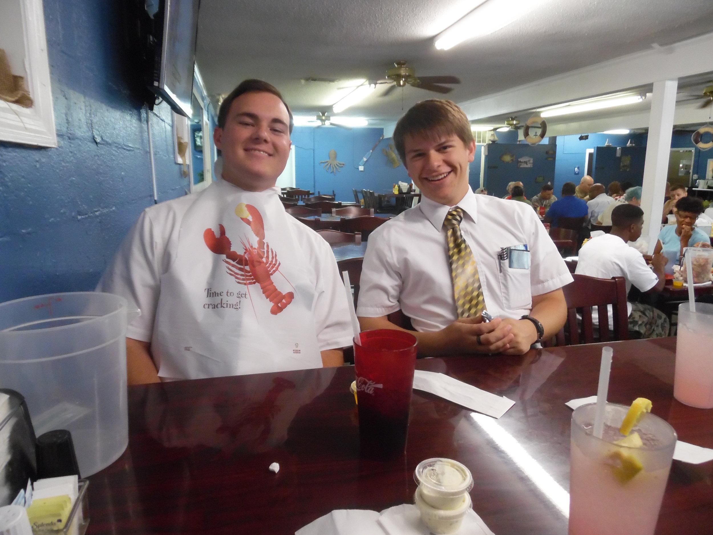 Elder Woolley and Elder Matthew Blanding