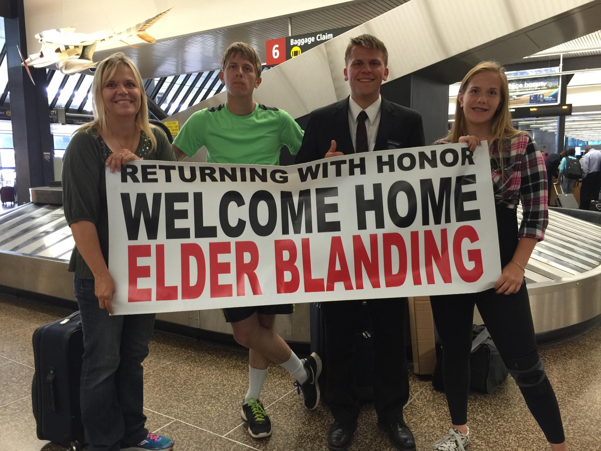 Doreen, Chris, Elder Michael Blanding, Jessie