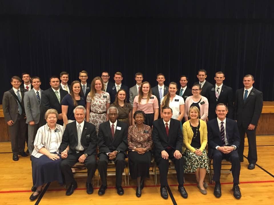 Elder Blanding is on the far left
