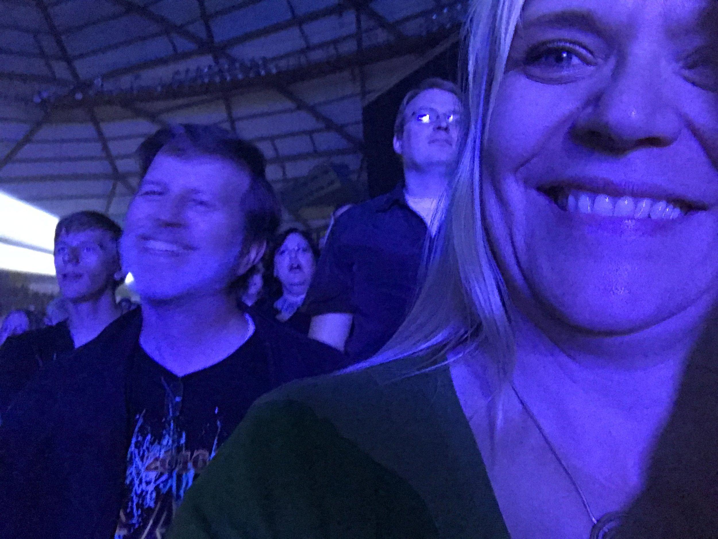bad lighting! Chris, Steve and Doreen