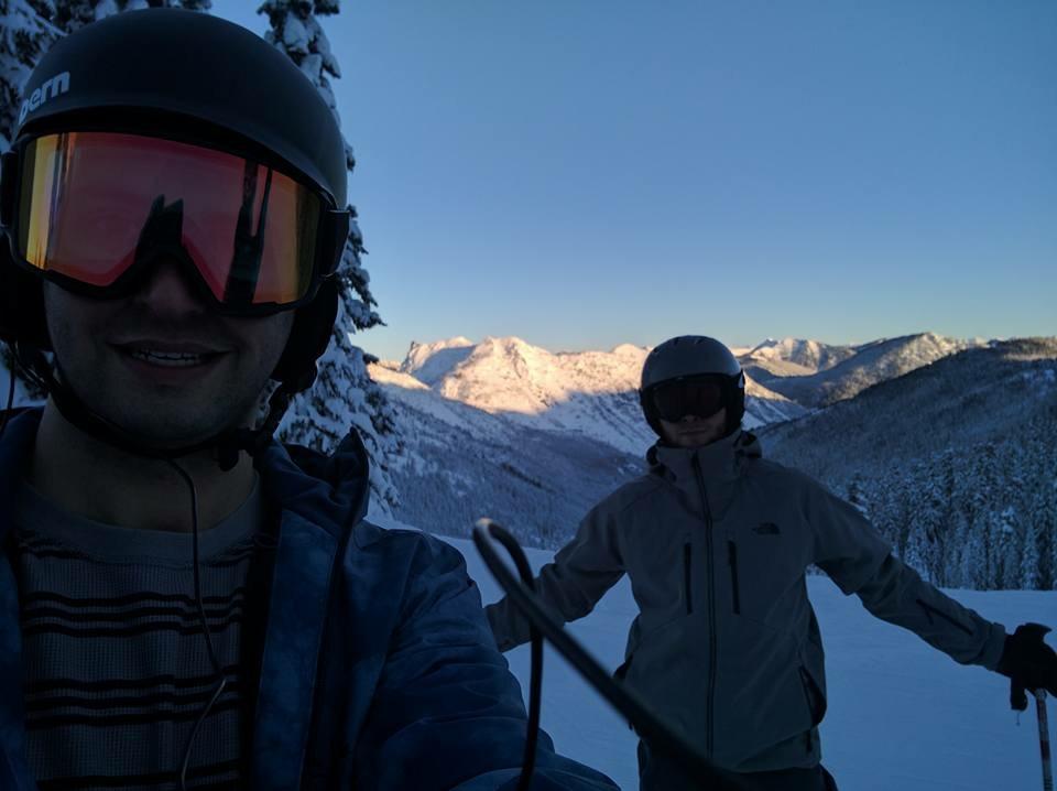 Jason skiing