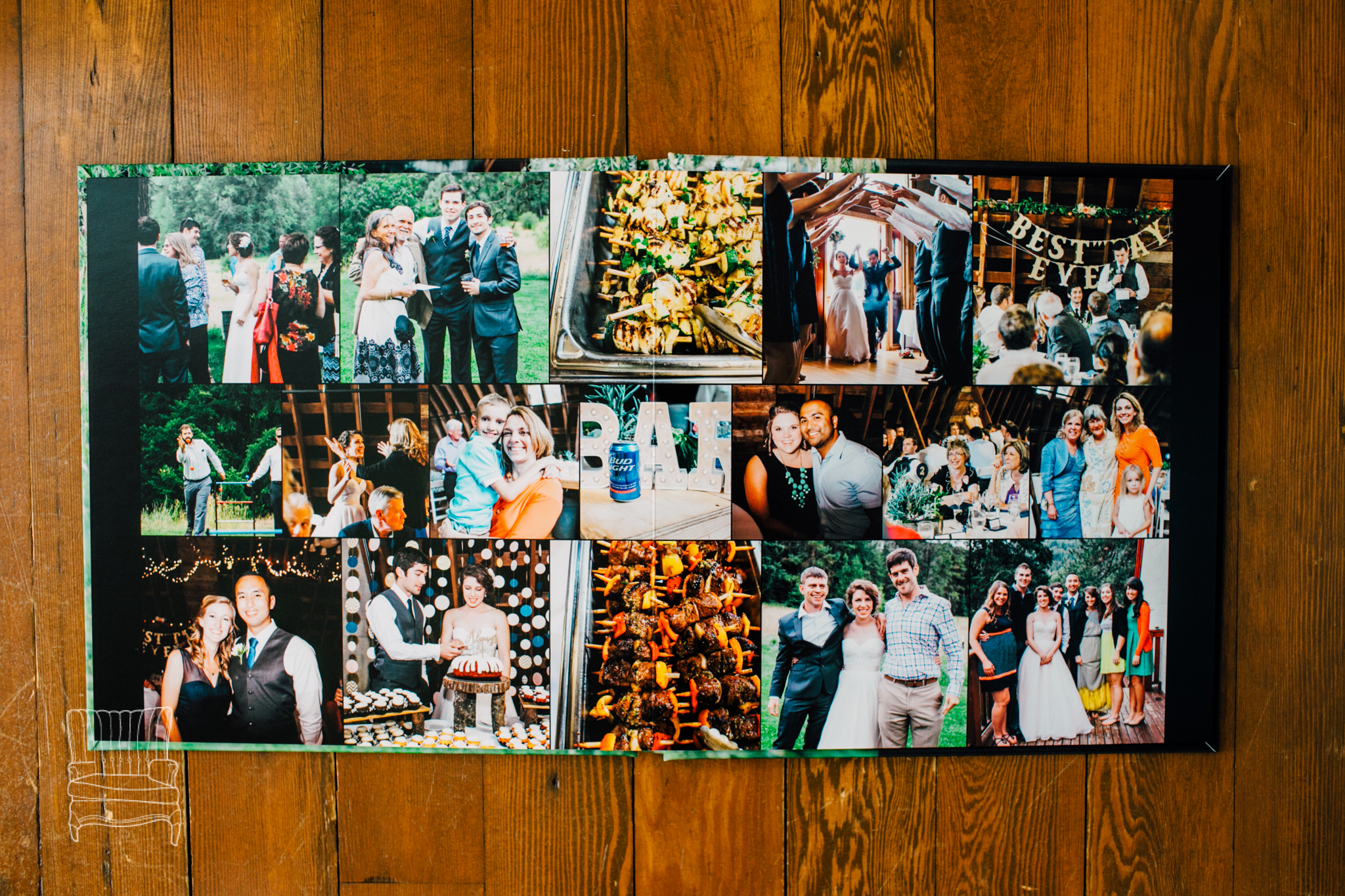 Layouts can be arranged to fit as many as 24 photos per page giving you the chance to show off more of your big day!