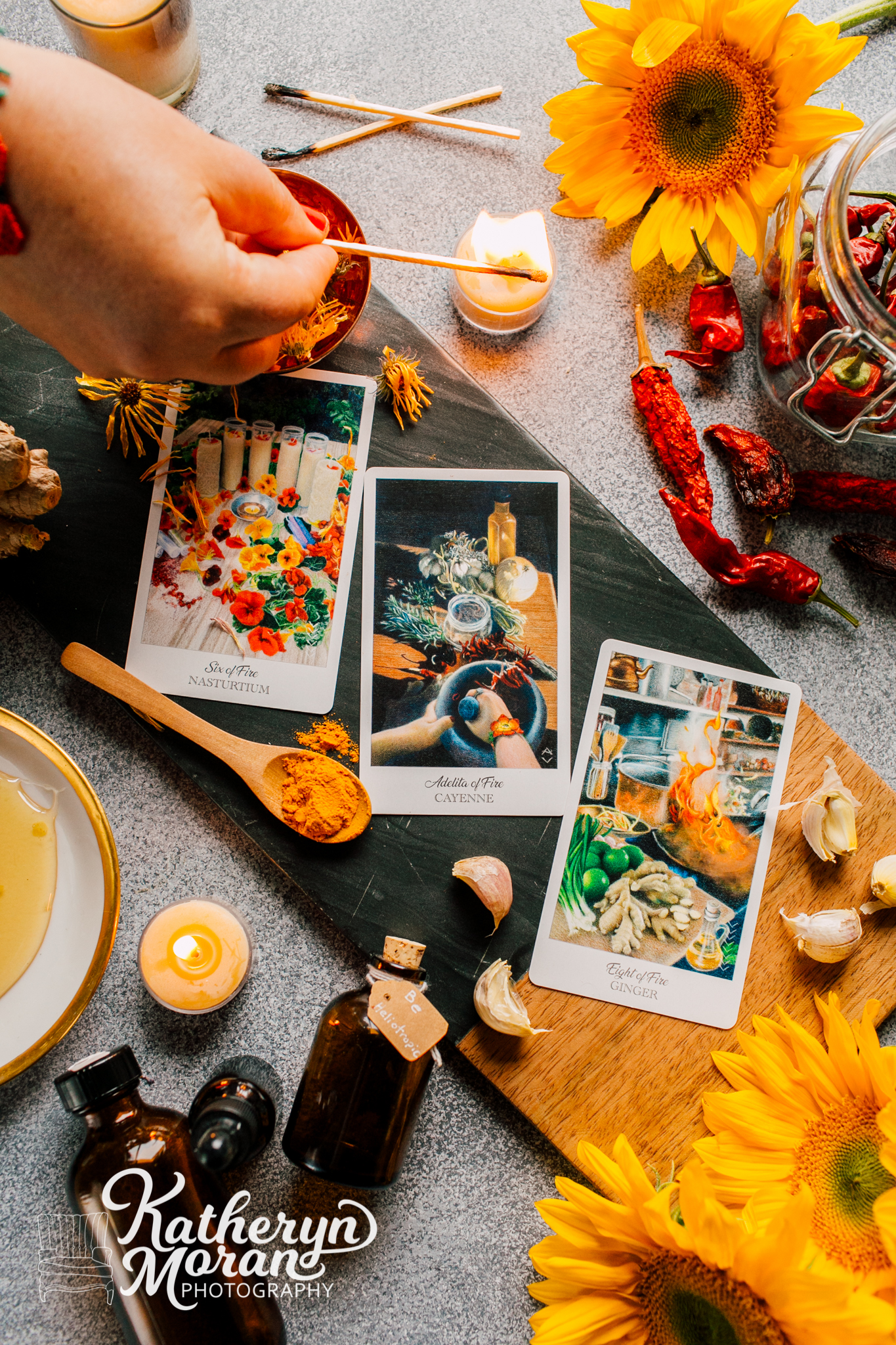Bellingham Business Photographer, Product Styling, Katheryn Moran Photography, Harbcrafters Tarot