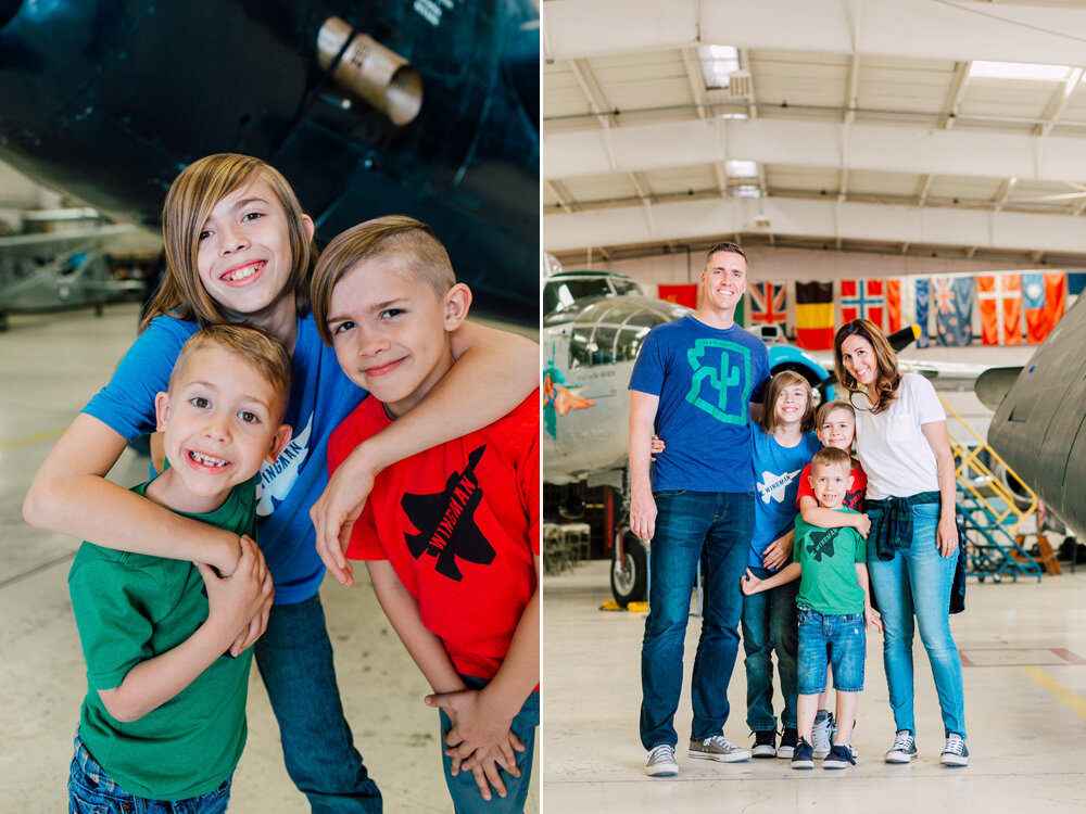 Bellingham Family Photographer, Arizona Flight Museum, Seattle Photographer