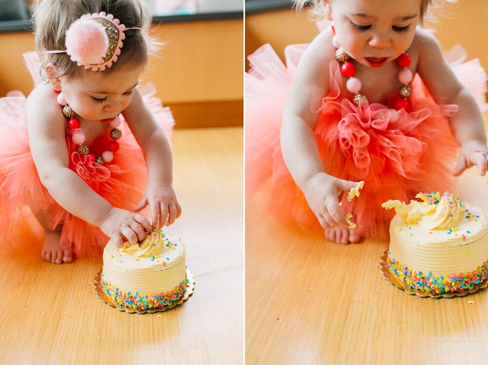 Bellingham One year Cake Smash Photographer Katheryn Moran