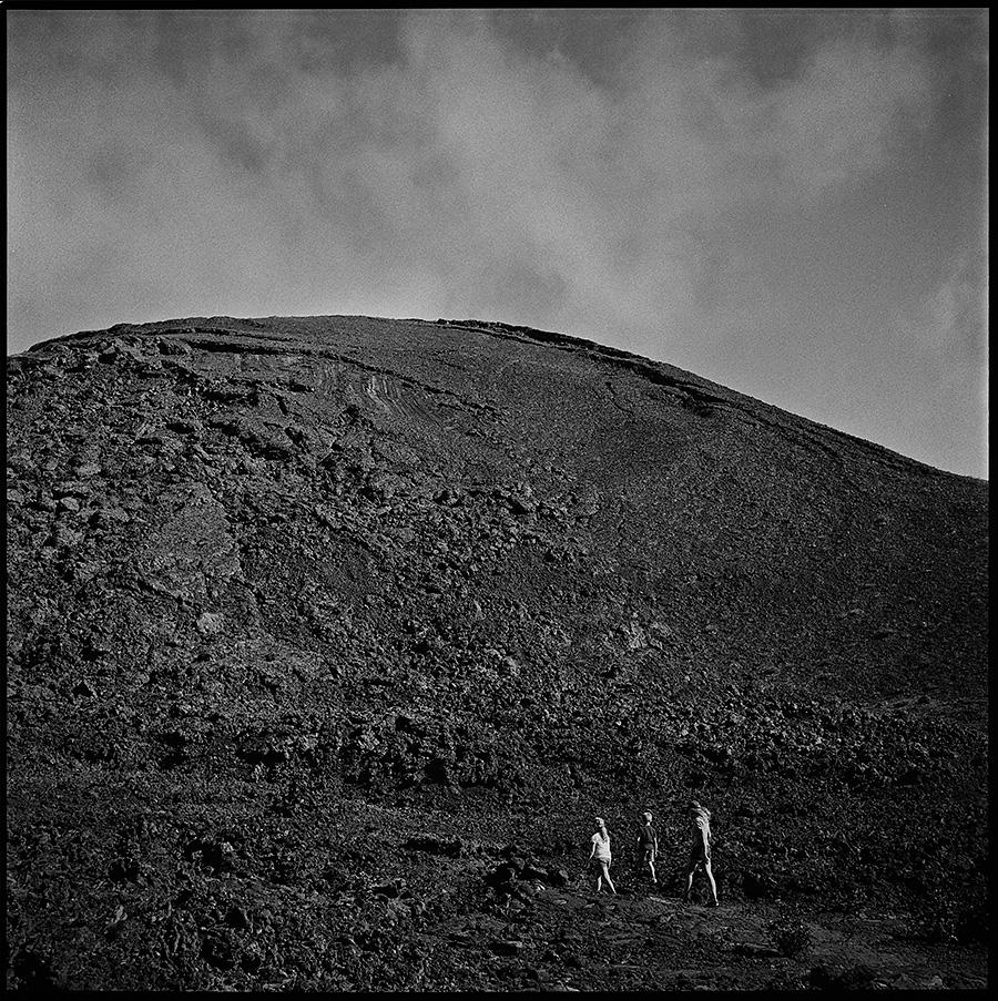 Hiking through Kīlauea Iki Crater in Volcanoes National Park.