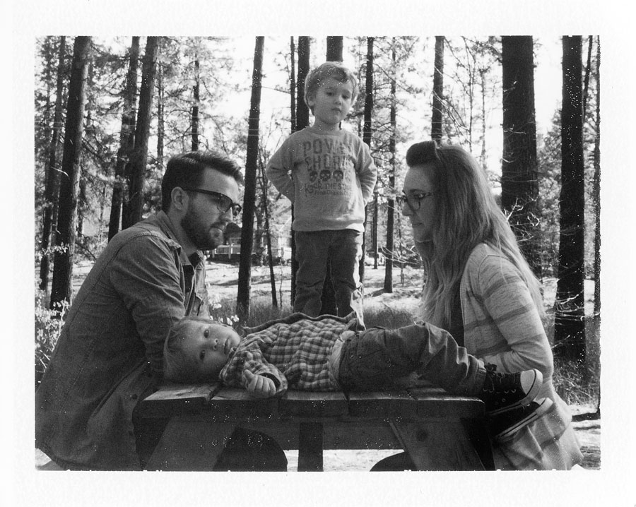 The Becklunds -Photographed on a Polaroid 180 on Fuji FP3000bwfilm.