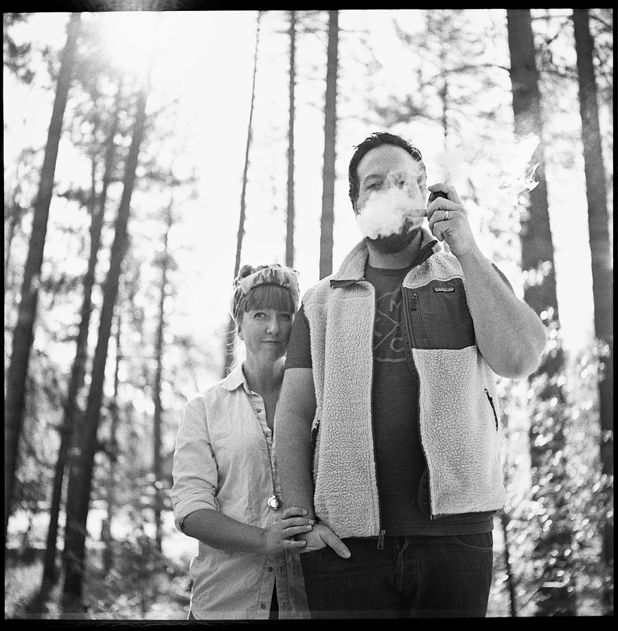 They are The Parsons -Photographed on a Minolta Autocord onTRI-X film.